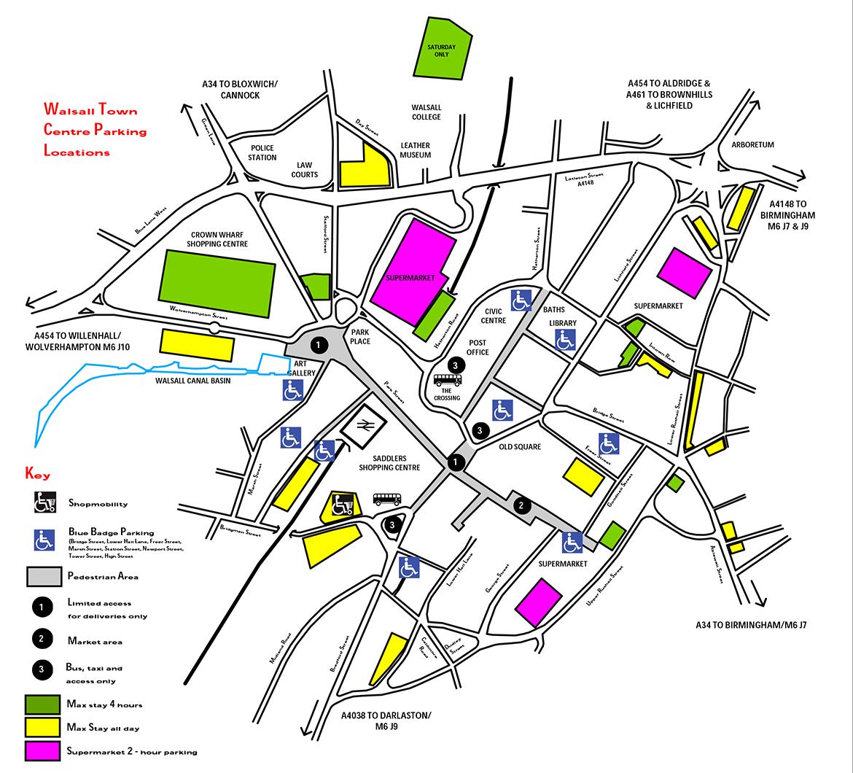 Walsall Parking Map